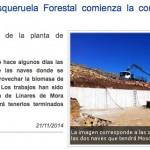 La evolución de las obras de la nave de Mosqueruela Forestal en prensa